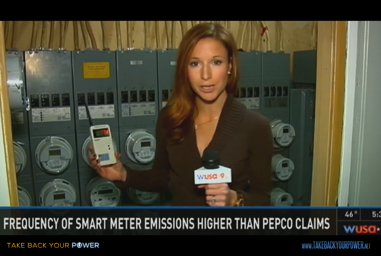 Utilities have been repeatedly caught lying about how frequent smart meters transmit microwave radiation. (scene from Take Back Your Power)