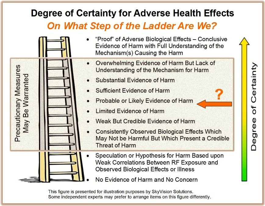 Ladder for Certainty for Adverse Health Effects